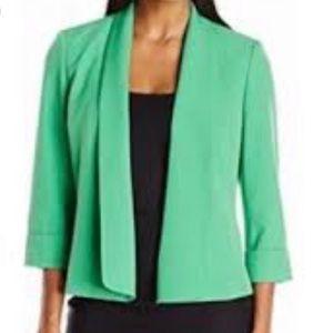KASPER Green Drape Front Blazer 22W